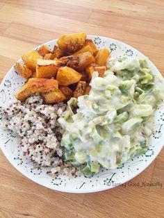 Tasting Good Naturally : Fondue de poireaux, butternut rôtie, quinoa pour un repas sur le pouce #vegan
