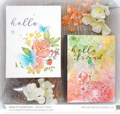 Stamp Away With Me: Watercolor Ranunculus Two Ways with Kelly