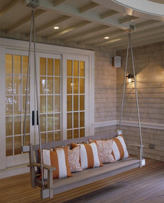 Charming Porch Swing Idea 47