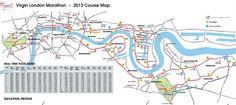 London Marathon route (rough guide). See also for 2015: http://map.virginmoneylondonmarathon.com/2014/