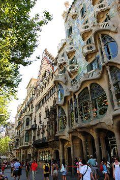 Casa Josep Batlló, in Barcelona, Spain, by Antonio Gaudi.