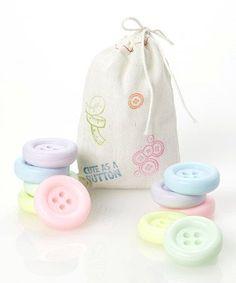 pastel button soaps - cute as a button http://www.latikasoap.com/shop/Party%20favors/Vintage%20buttons/