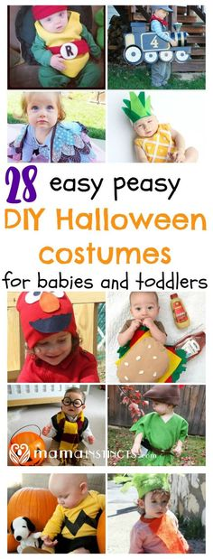 There's still plenty of time to make a Halloween costume for you baby and toddler. Not crafty? That's ok because these tutorials are easy peasy. Click to see all these adorable DIY Halloween costumes or pin for later.