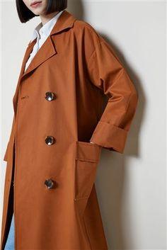 Mix/Isa Arfen Showerproof Oversized Trench Coat