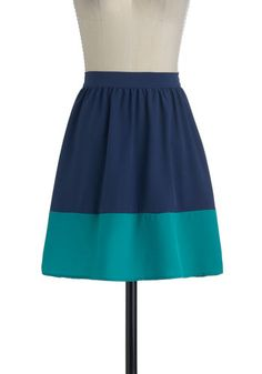 Sway and Simple Skirt in Ocean, #ModCloth