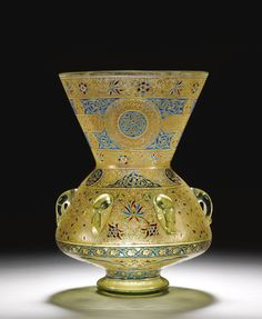 AN EXCEPTIONAL MAMLUK REVIVAL MOSQUE LAMP BY PHILIPPE-JOSEPH BROCARD, PARIS, 1880-90