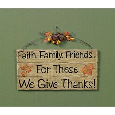 We Give Thanks! Sign - TerrysVillage.com