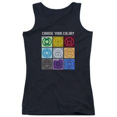 Justice League: Choose Your Color Junior Tank Top