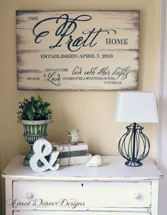 Wedding sign | family name sign by Aimee Weaver Designs