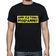 #applications #programmer #black #tshirt #men Wear a perfect tshirt in your department! Find it here --> https://www.teeshirtee.com/collections/occupations-black-t-shirts/products/applications-programmer-t-shirt-mens-t-shirt-occupation-s-size-black-cotton