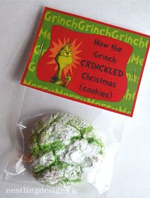 How the Grinch Crinkled Christmas cookies with FREE Printables