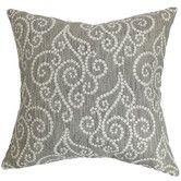 Wayfair - The Pillow Collection Cienne Swirls Pillow Part #: P18-WAV-652771-PARCHMENT-P100    SKU #: PICO5383
