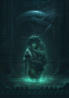 Alien fan art by Francisco Badilla