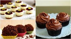 Dessert Recipes, Desserts, Mini Cupcakes, Sweets, Cooking, Ferrero Rocher, Food, Tailgate Desserts, Kitchen