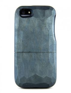 INDIGO DYE HANDCARVED WOOD IPHONE CASE
