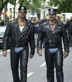 leather x 2 Black Leather Biker Jacket, Leather Jeans, Men In Uniform, Kinds Of Clothes, Big Men, Sexy, Menswear, Jackets, Second Skin