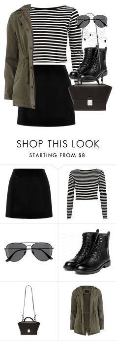 """Outfit with a mini skirt for autumn"" by ferned ❤ liked on Polyvore featuring Marc Jacobs, River Island, H&M, yeswalker, Forever 21 and Dorothy Perkins"