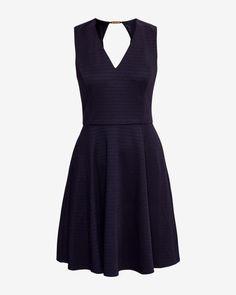 Ribbed skater dress - Dark Blue | Dresses | Ted Baker