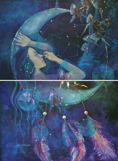 Dream Catcher Acrylic on canvas /diptych - 105/140 cm Private collection