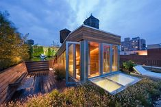 Roof terrace in the city.