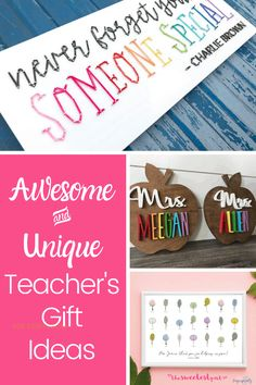 Thoughtful Gift Ideas for Teachers ~ the sweetest part Simple Gifts, Easy Gifts, Gifts For Kids, Creative Gift Wrapping, Creative Gifts, Birthday Traditions, Personalized Teacher Gifts, Presents For Teachers, Teacher Christmas Gifts