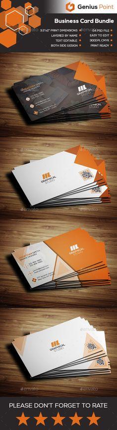 Business Card Bundle - Business Cards Print Templates