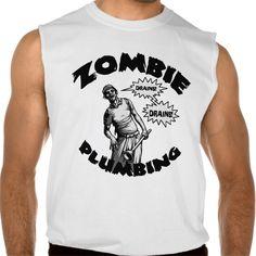 Zombie Plumbing Sleeveless Tees Tank Tops