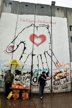 The Palestinian side of the Israel-Palestine Separation Wall, Bethelehem, Palestine