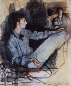 Self Portrait, 1922, Zinaida Serebriakova. Russian (1884 - 1967)