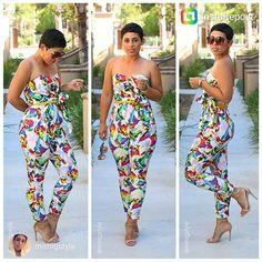 Floral Print Jumpsuit.... Mimi G