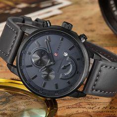 Fashion Curren Men Sports Date Analog Quartz Leather Stainless Steel Wrist Watch in Jewelry & Watches, Watches, Parts & Accessories, Wristwatches | eBay