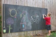 Outdoor Chalkboard Reader Project | Apartment Therapy