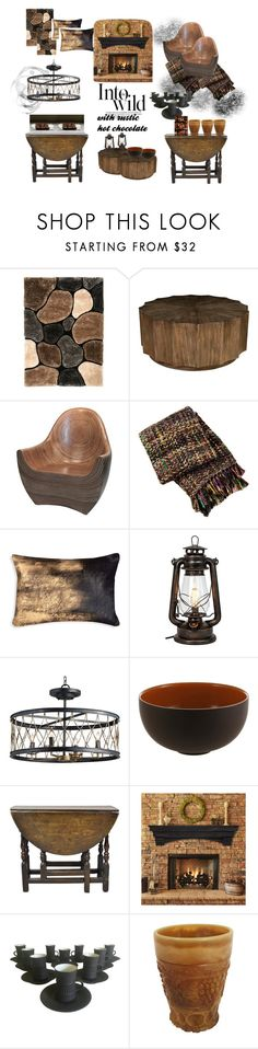 """""""Into The Wild...with rustic hot chocolate"""" by nightly-shade ❤ liked on Polyvore featuring interior, interiors, interior design, home, home decor, interior decorating, Anja, Safavieh, Jars and Dansk"""