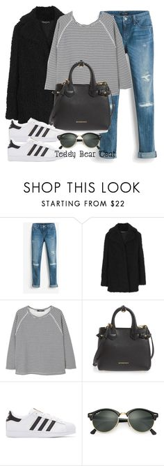 """Untitled #12158"" by vany-alvarado ❤ liked on Polyvore featuring White House Black Market, Topshop, MANGO, Burberry, adidas Originals and Ray-Ban"