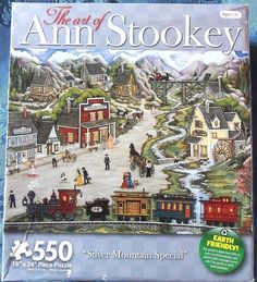 "550 Pieces -- ""Silver Mountain Special"" -- Art by Ann Stookey; Puzzle by Karmin International; Copyright 2011; Completed size: 18"" x 24""; Purchased for $1.50 at Deseret Industries in Provo on 17 Dec 2014"