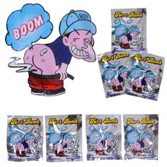 10pcs Funny  Fart Bomb Bags Stink Bomb Smelly Funny Gags Practical Jokes Fool Toy