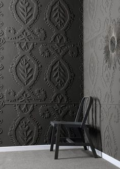 painted embossed wallpaper via Inge Zelewitz on pinterest