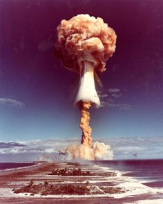 """humanoidhistory: """"A French nuclear test at the Mururoa atoll in French Polynesia, """" Tahiti, Hayward Gallery, Eugene Atget, Nuclear Test, Photo Report, Meteorology, Atomic Age, Paris Photos, French Polynesia"""