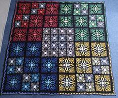 the Tibet Tiles crochet pattern English version Crochet Hook Sizes, Crochet Hooks, Knit Crochet, Crochet Blankets, Crochet Afghans, Tapestry Crochet, Crochet Motif, Crochet Stitches, Half Double Crochet