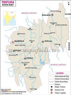 River Map of Tripura