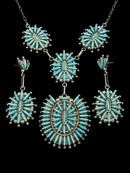 Fine Zuni Inlay Sterling Silver Necklaces and Pendants