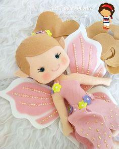 Mermaid Baby mobile - Sea Creatures Mobile - Ocean Mobile - Felt Mobile - Cot Mobile - Crib Mobile - Her Crochet Felt Crafts Dolls, Foam Crafts, Felt Mobile, Baby Mobile, Diy Craft Projects, Crafts For Kids, Muñeca Diy, Felt Animal Patterns, Felt Fairy