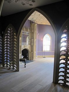 The Holbein Chamber, Strawberry Hill House, UK. I want to stand in this purple room