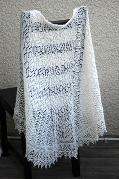 This hand knit wedding #shawl is made with blend of 70% Baby Alpaca and 30%…