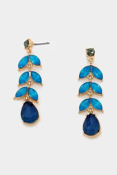 Marquise Juniper Earrings on Emma Stine Limited