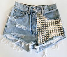 Things to do this summer: DIY studded shorts