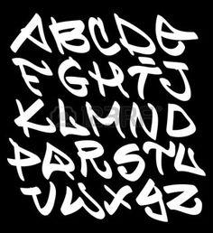 Graffiti lettres de l'alphabet Police. Hip hop type de conception graffiti photo