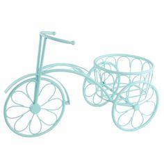 Matmazel Saksılı Turkuaz Dekoratif Bisiklet