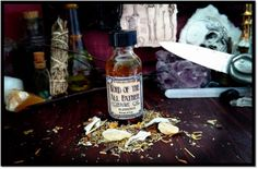 Word of the Allfather Conjure Oil is designed to bless tools, spells, initiates, clients, etc. This oil is great for anointing and dressing for any spell work that requires divine blessings. Made with Fractionated Coconut Oil infused with herbs and essential oils said to be sacred to the Gods of most any faith such as Frankincense, Marshmallow, Dragon's Blood, Hyssop, Mugwort, Sage Leaf, and Turquoise chips.  Conjure Oils come in 2 sizes. Choose between 1/2 oz. bottles and 1 oz. bottles...