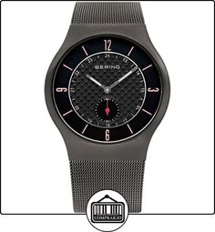 Bering Time  0 - Reloj de cuarzo para hombre, con correa de acero inoxidable, color gris de  ✿ Relojes para hombre - (Gama media/alta) ✿